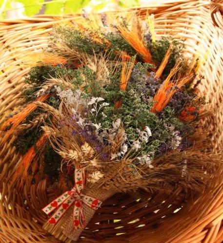 buchet-si-coronita-plante-uscate